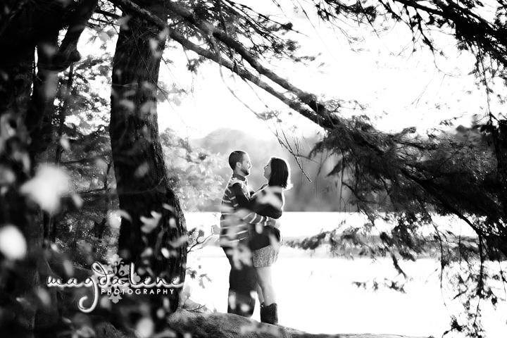 romantic wisconsin engagement photos