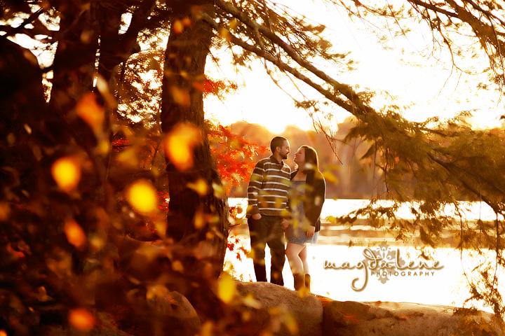 romantic wisconsin engagement