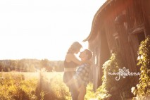 romantic-country-door-county-engagement-portrait