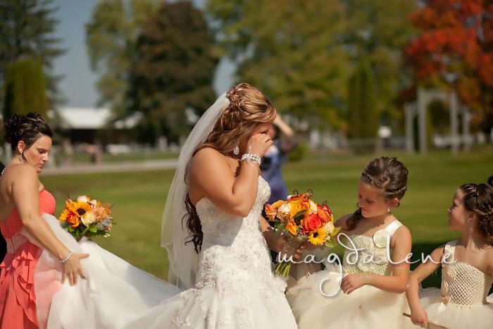 Wisconsin Wedding Photographer bride crying