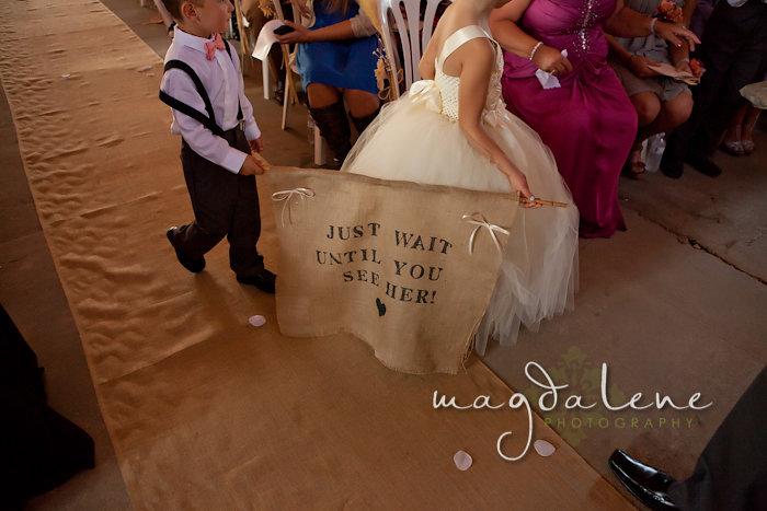 Wisconsin Wedding Photographer ceremony sign
