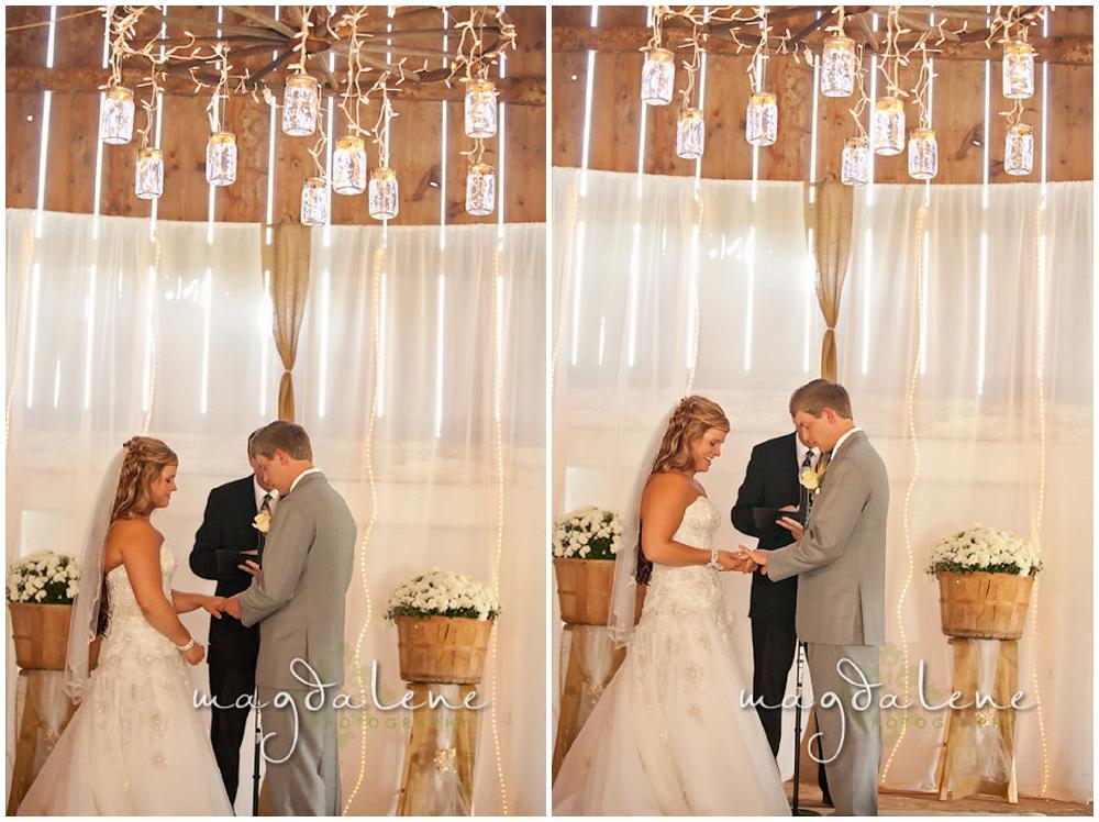 Wisconsin Wedding Photographer ring ceremony