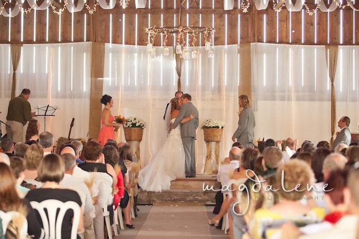 Wisconsin Wedding Photographer first kiss