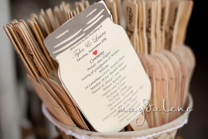 Wisconsin Wedding Photographer wedding programs